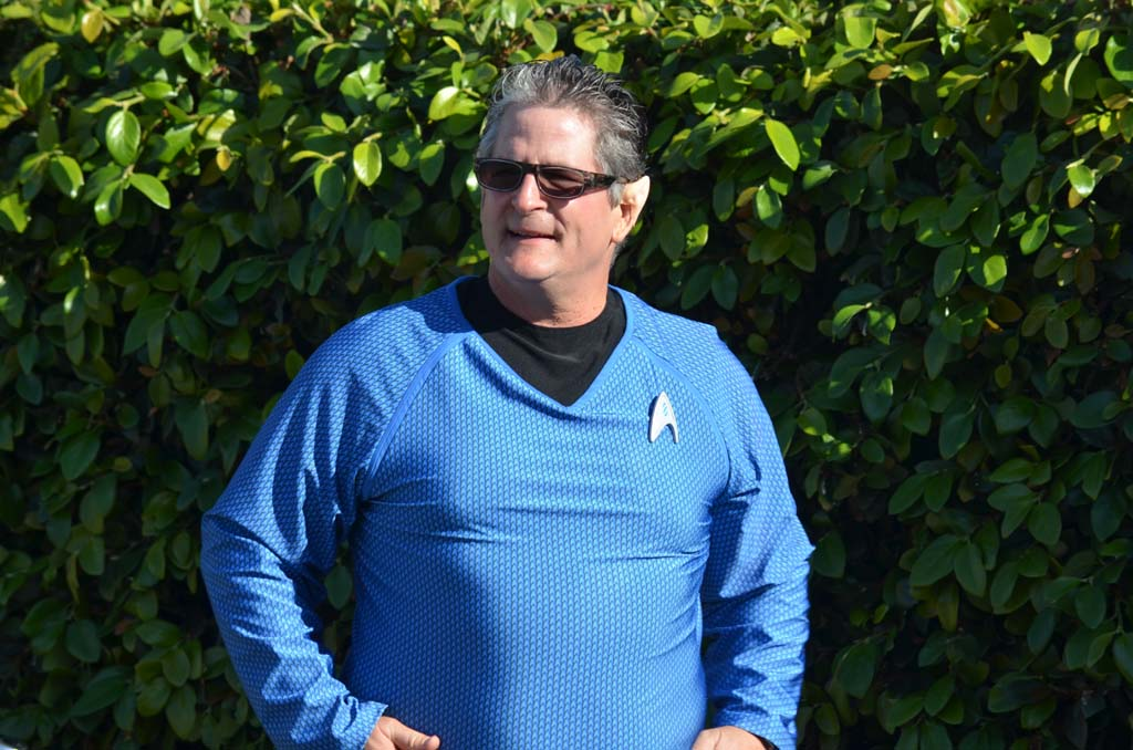 "Encinitas Councilman Tony Kranz with pointy ears similar to those sported by ""Star Trek"" character Spock. Photo by Tony Cagala"