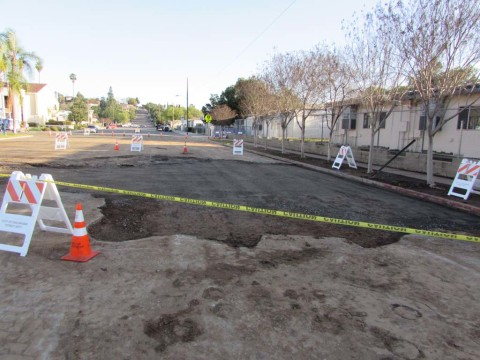 One million gallons  flood Broadway after  water main break