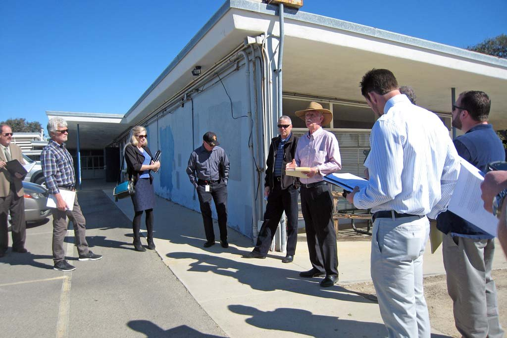 Architects walk through Pacific View. The Studio Channel Islands Art Center in Camarillo, Calif. could be used as a blueprint for Encinitas' planned use of the Pacific View site. Photo courtesy Jax Meyers