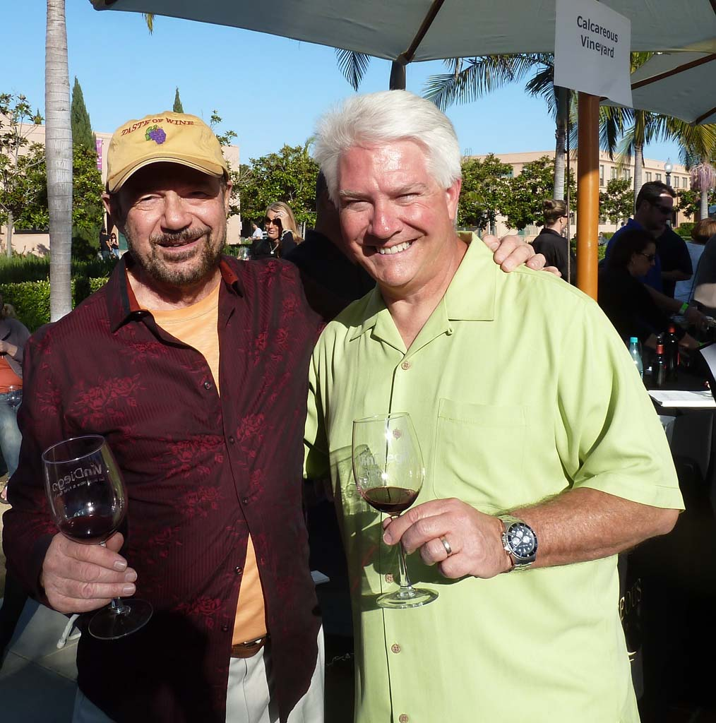 Wine columnist Frank Mangio with David Fraschetti, Producer of Vin Diego. Photo courtesy Frank Mangio