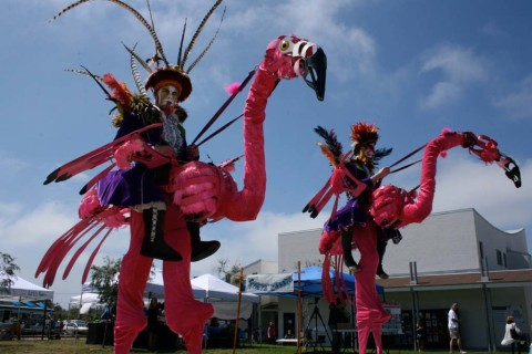 Dragon Knights Stilt Theater performance shines at arts festival