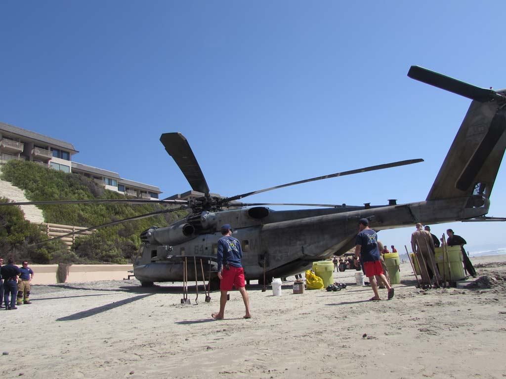 Marine helicopter makes precautionary landing