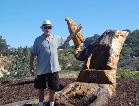 Tree stump art officially unveiled