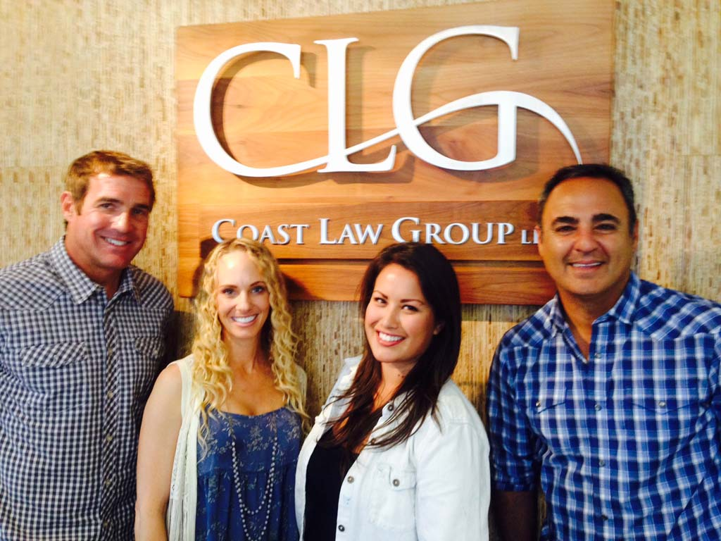 The Coast Law Group foodies from left: Dave Peck, Amy Johnsgard, Erika Cueva, and Seyamack Kourtetchian. Photo by David Boylan