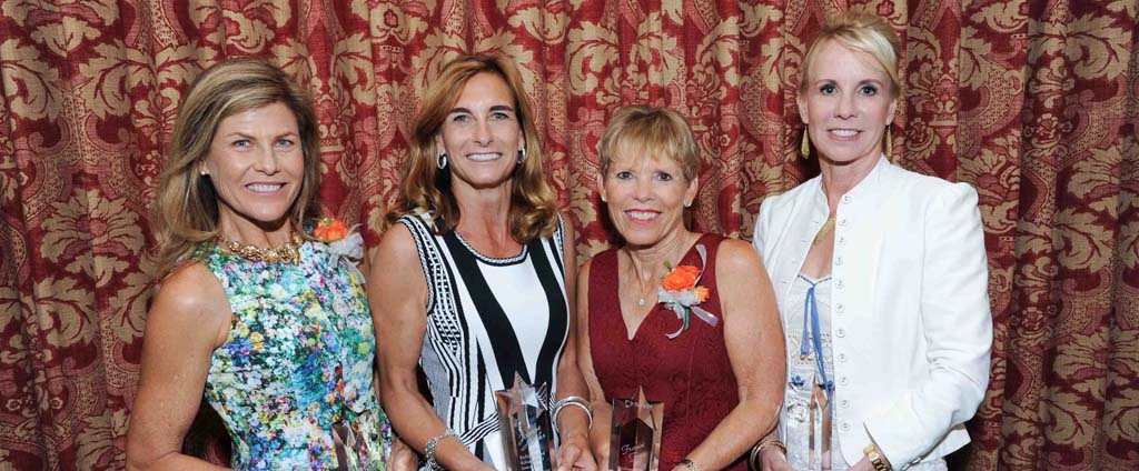 From left: Mary Miller, Joanne Marks, Franci Free, and Catherine Nicholas are honorees for the Distinguished Achievement Award. Courtesy photo