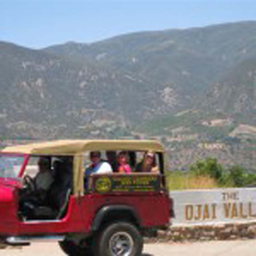Cloud Climber Jeep Tours takes visitors around local mountain roads and to wineries and viewpoints where the entire Ojai Valley can be seen. Guides know where all the best backcountry roads and off-road areas, too. Courtesy Photo