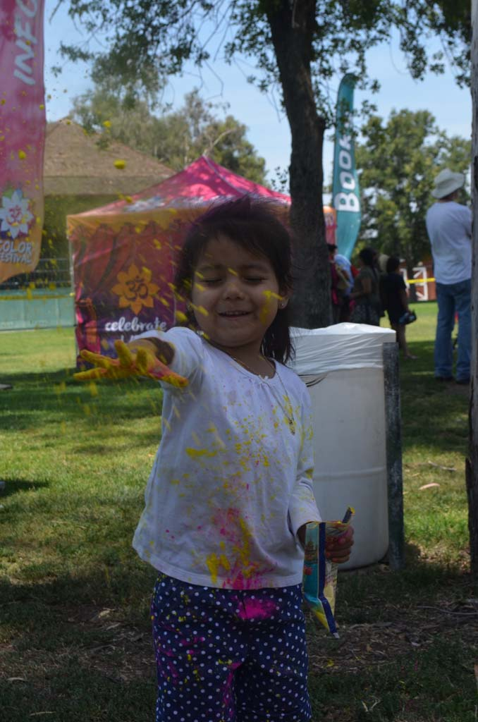 Amy Cruz celebrates the Holi Festival of Color. Photo by Tony Cagala