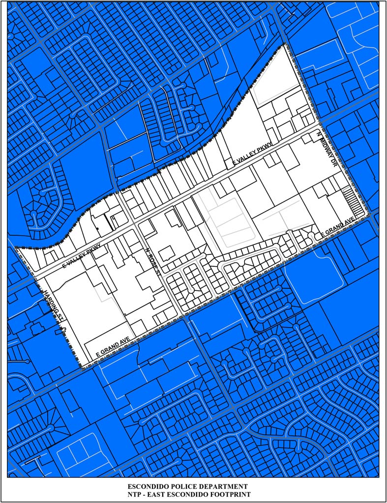 The 16-block east Escondido region was chosen for the 2015 Neighborhood Transformation Project efforts. Courtesy photo