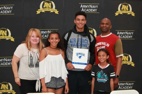 Army Navy's Caleb Morris signs to play for Air Force