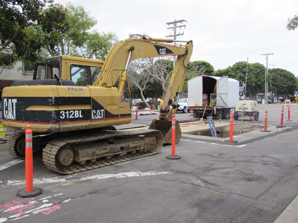 Storm drains on Grand Avenue  under construction