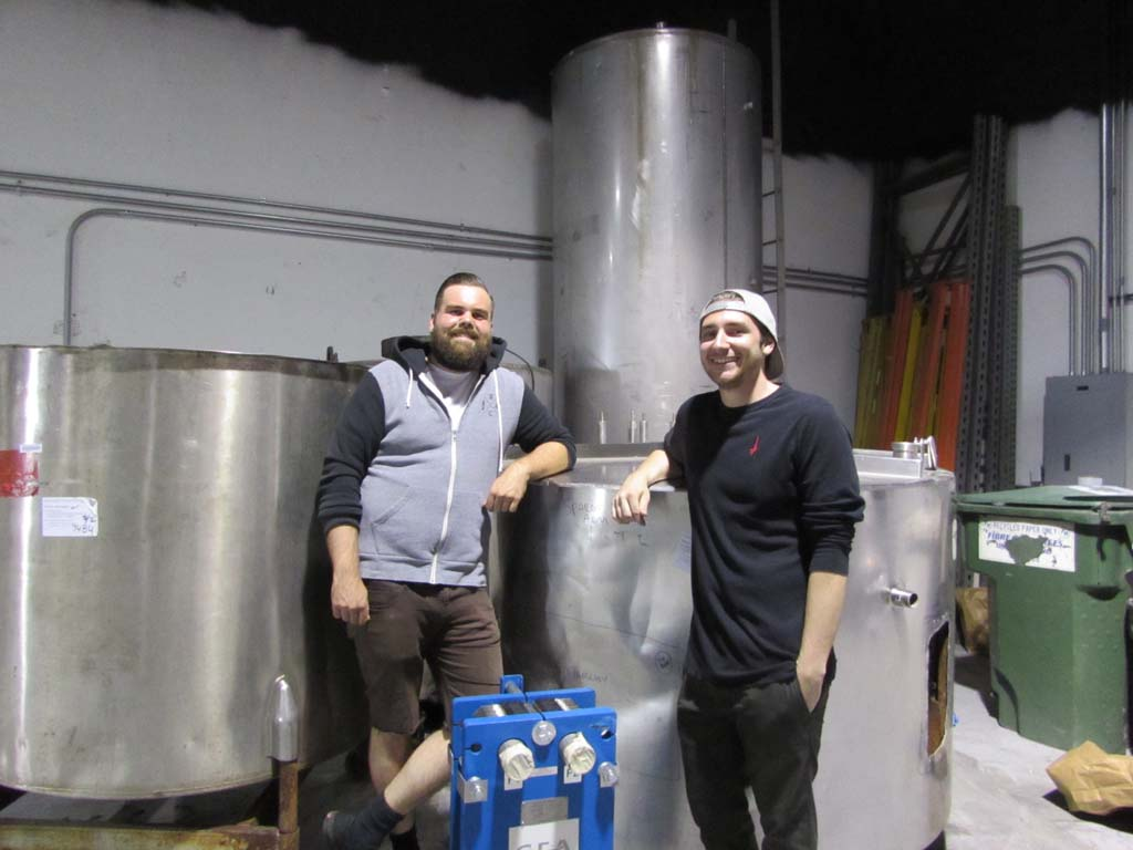Mike Stevenson, left, and Ben Fairweather hope to have their brewery and tasting room up and running by late summer or early fall. Photo by Ellen Wright