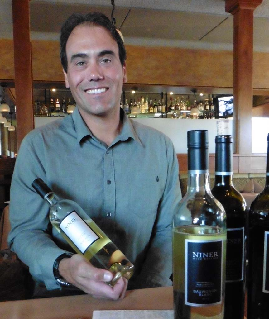 Winemaker Patrick Muran recently presented Paso Robles favorite Niner wines at Firenze in Encinitas. Photo by Frank Mangio