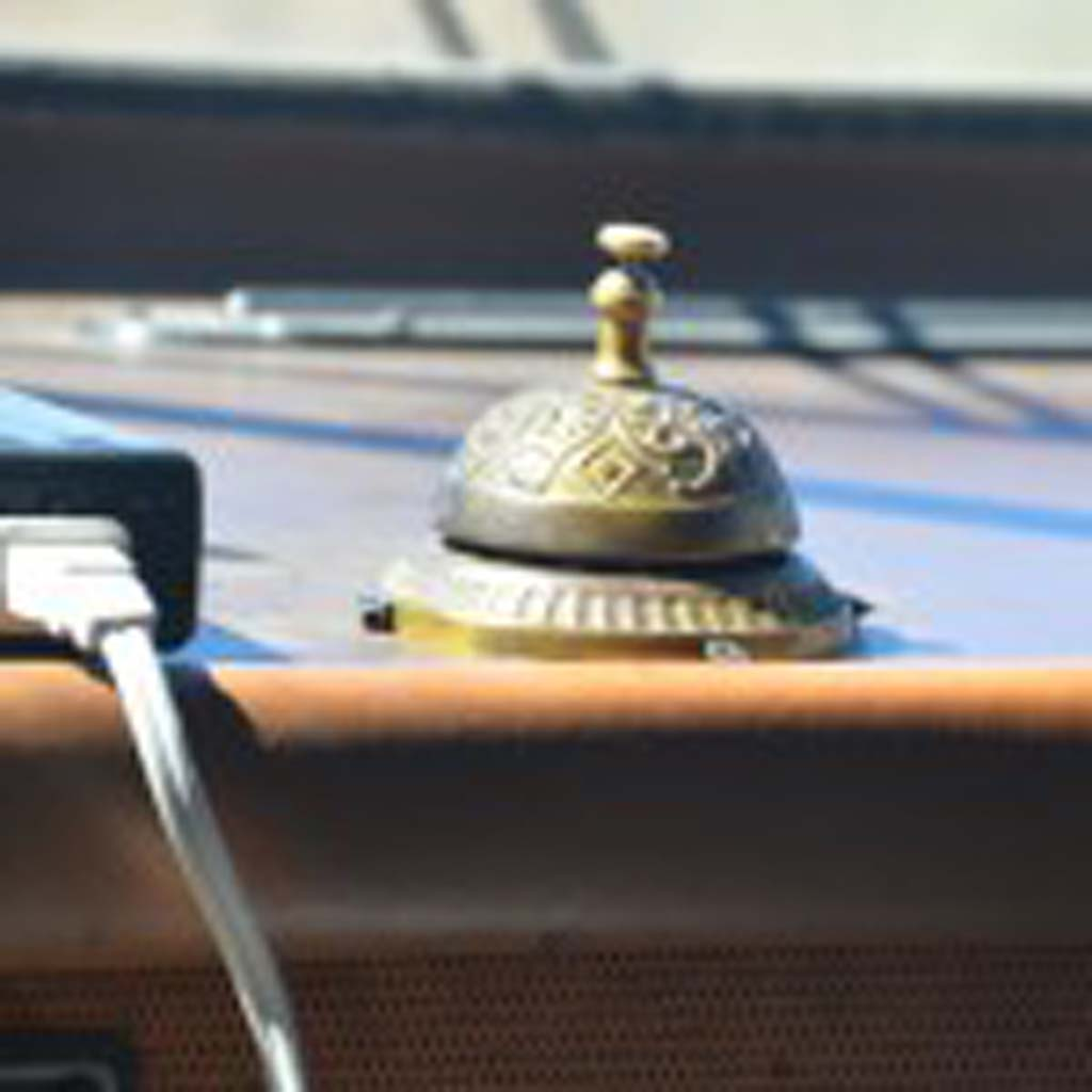 "A brass bell like the one that played an important part in the plot of ""Breaking Bad,"" which aired from 2008 to 2013, sits on the dashboard of the 1986 Fleetwood Bounder. The RV is used for tours that take visitors to many of the Albuquerque locations where the series was filmed."