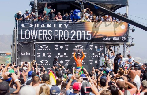 Filipe Toledo wins Oakley Lowers Pro