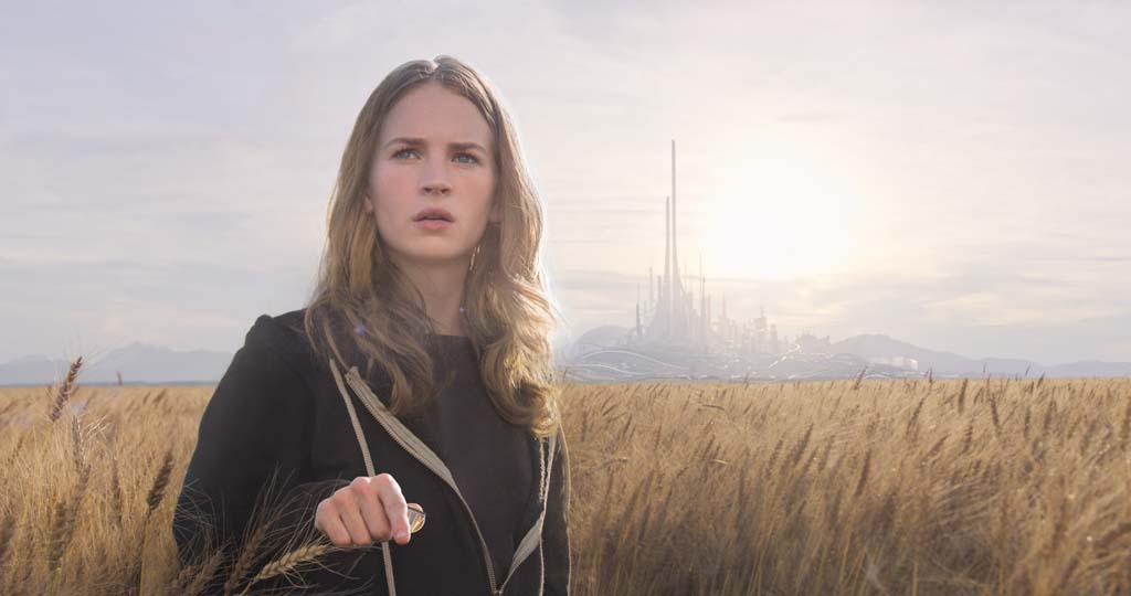 "Casey (Britt Robertson) finds herself in a strange new world in Walt Disney's ""Tomorrowland."" Photo courtesy Walt Disney Pictures"