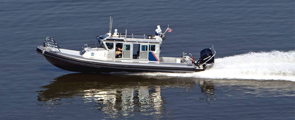 The investigation into a collision between a U.S. Customs and Border Patrol vessel, like the one pictured, and a panga with 20 people aboard suspected of entering the country illegally off the coast near Encinitas is ongoing. Photo courtesy U.S. Customs and Border Patrol