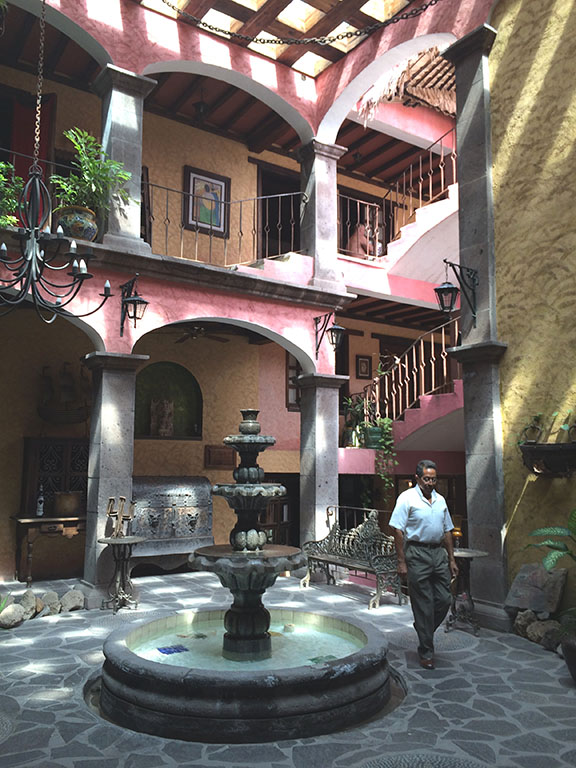 With an exterior of deep pink, a unique lobby and a rooftop pool, the Hotel Posada de las Flores in Loreto provides guests with a lot of ambiance.  Photo by Jerry Ondash
