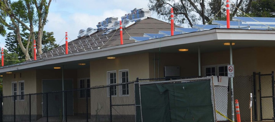 Installation of solar panels continues at Paul Ecke