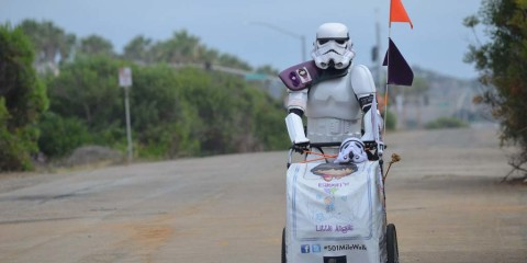 Stormtrooper walks to San Diego in memory of late wife