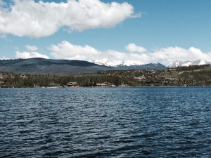 The Never Summer Mountains provide a spectacular backdrop to Grand Lake, Colorado's largest and deepest (265 feet) natural lake, fed by streams flowing from Rocky Mountain National Park. Grand Lake flows into Shadow Mountain Lake (headwaters of the Colorado River), which flows into Granby Lake. The latter two are manmade. All photos by E'loise Ondash