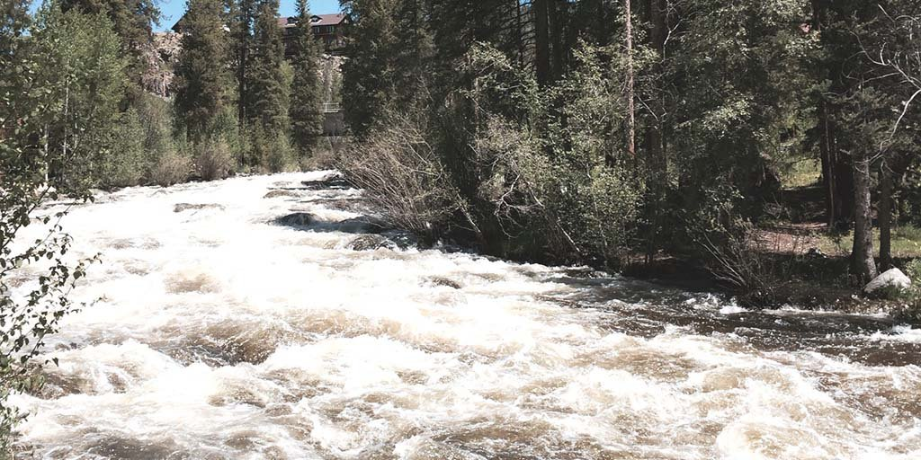 nusual rains in May and June this year mean that streams like this one in Rocky Mountain National Park, which feed the source of the Colorado River, are running high. This is good news for Southern California, which gets some of its water from the river. Photo by E'Louise Ondash