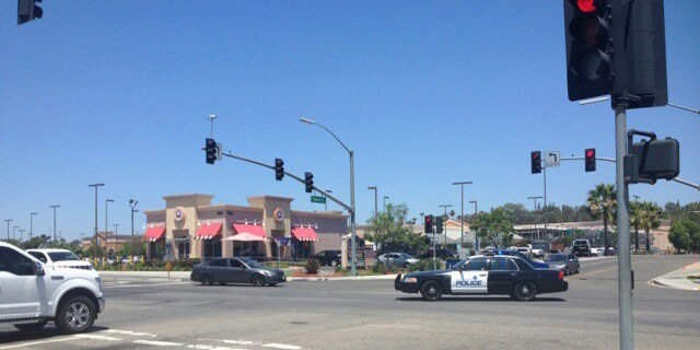 A new law passed by the Escondido City Council will keep people from using medians for anything other than crossing the road. The changing of the law follows the death of a panhandler in April using the median at the intersection of West Mission Avenue and North Quince Street. Photo by Aaron Burgin