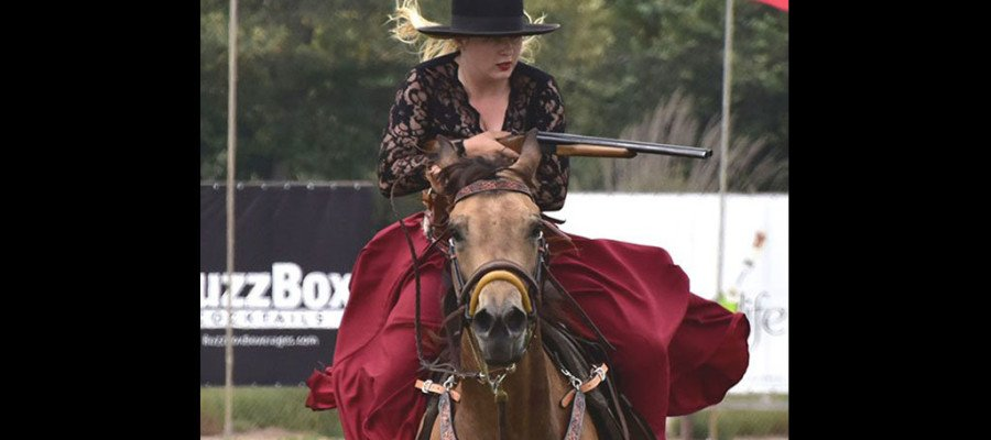 Polo players make way for cowboys