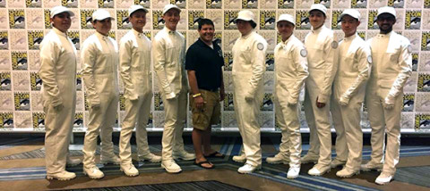 Carlsbad High drummers introduce 'Hunger Games' panel at Comic-Con