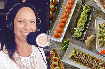 Sushi Lounge co-owner Katie Rooney on KRPI's Lick the Plate talks about some of her fabulous sushi creations. Photo by David Boylan