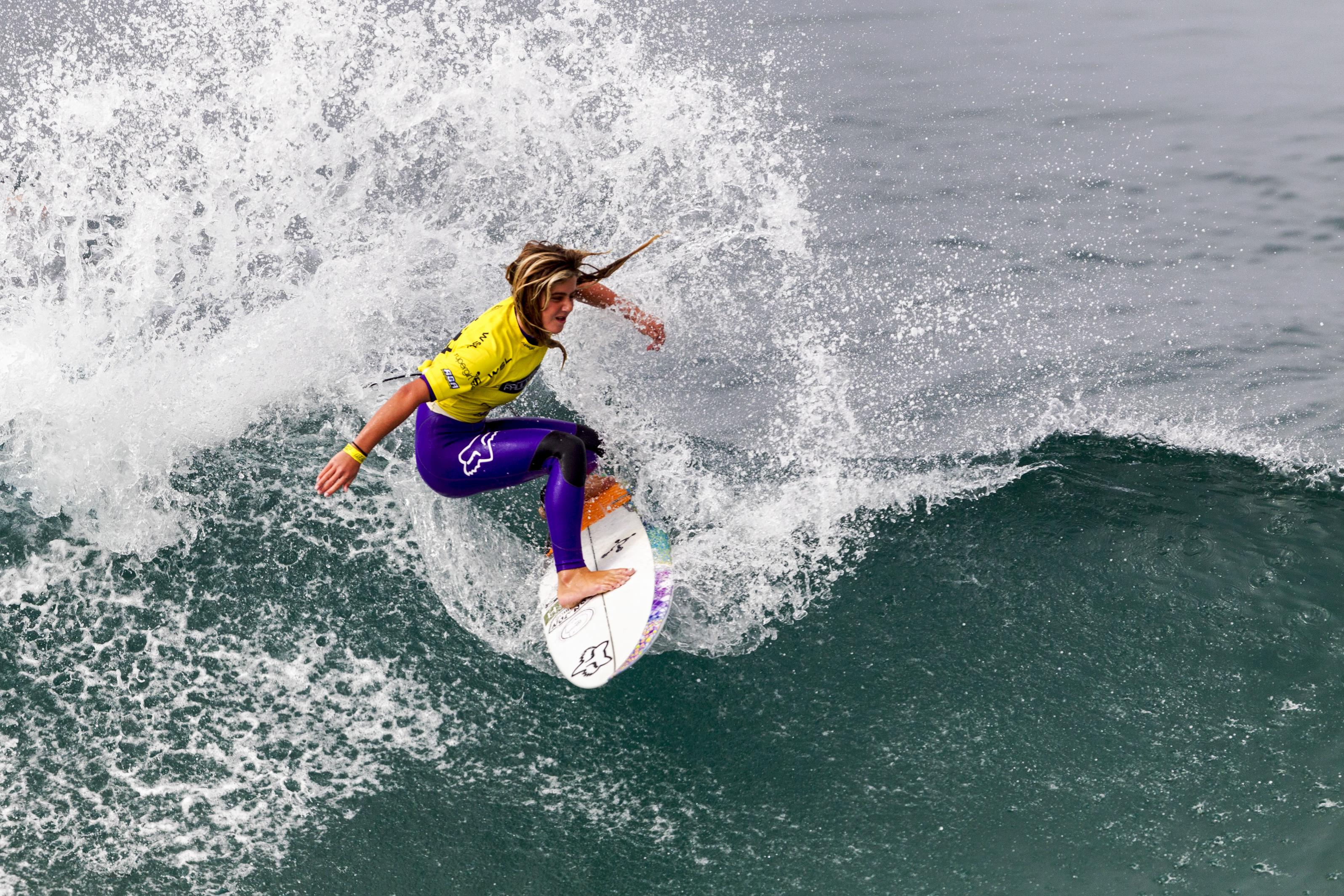 U.S. surfer Caroline Marks competes in the 2015 Supergirl Pro in Oceanside. Photo by Bill Reilly