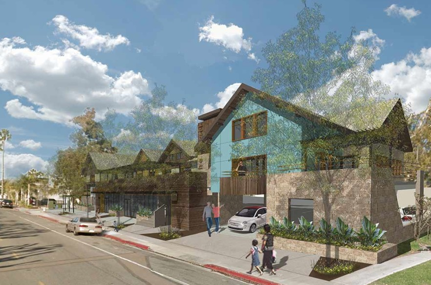 Plans to build a proposed mixed-use affordable housing complex on South Sierra Avenue may soon begin moving forward after a judge ruled the city did nothing illegal when it approved the development in April 2014. Courtesy rendering