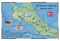 This Passport Map commemorates a trip to Costa Rica, highlighting itinerary and experiences. [Courtesy photo]