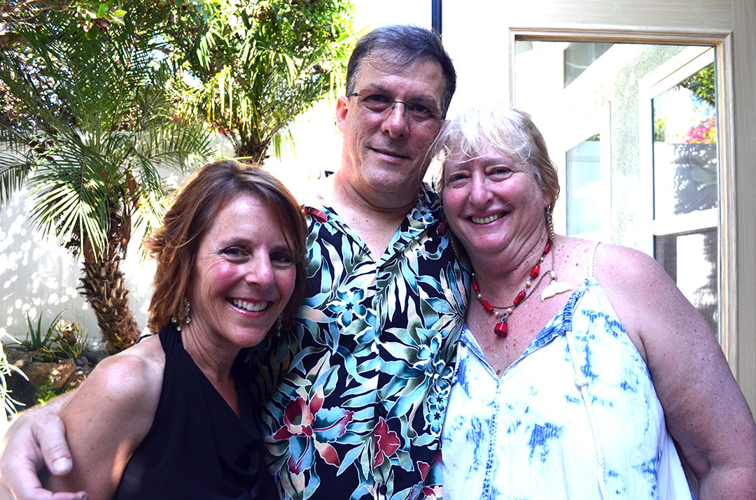 From left: Jolee Pink, Larry Pink and Donna Butnik. Photo by Tony Cagala