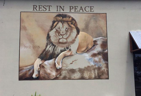 Carlsbad mural commemorates Cecil the lion