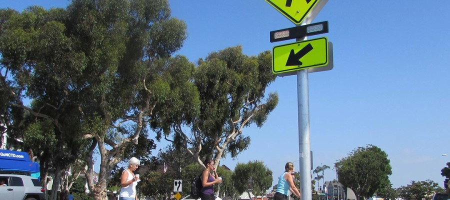 Safer pedestrian crosswalks installed in Carlsbad Village
