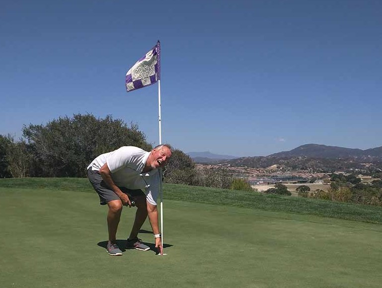 Golfer finds ace in the hole
