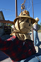 Big Bear Village becomes home to dozens of scarecrows beginning Sept. 5. The displays run through Nov. 8. Voting for your favorite ends Oct. 30. (Photo by Dan McKernan)