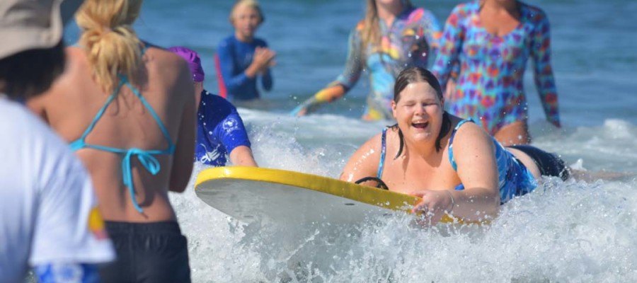 Blind surfers experience feeling of waves