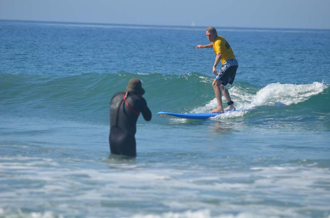 Scott Leason surfs like a pro during the blind surf event on Sunday. Photo by Tony Cagala