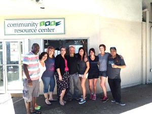 The Operation Paradigm team on Sunday at the Community Resource Center in Encinitas. The event, to provide free haircuts to the homeless, was started by Encinitas resident and Salon Paradigm owner Letty Portilla, third from right. Courtesy photo