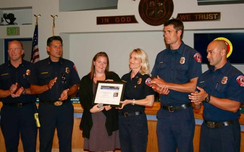Oceanside Fire Department earns gold