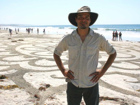 Andres Amador leads massive sand art project at Swami's Beach