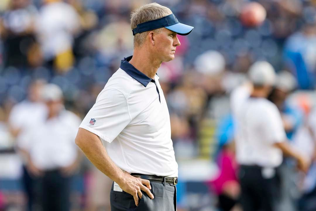 San Diego Chargers head coach Mike McCoy watches the offense during pre-game warm ups before Monday night's match up with the Pittsburgh Steelers. Photo by Bill Reilly