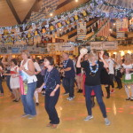 Line dancing draws a crowd at Big Bear's annual Oktoberfest, held at the town's convention center.