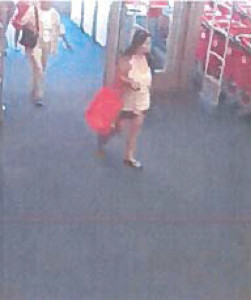 The suspect is described as an Asian adult female approximately 30 years in age. Courtesy photo