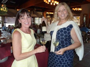 It was ladies night at a recent Vittorio's wine dinner with Mindy Hewitson of Estates Group and Cindy Bock of Merryvale/Starmont Wines of Napa Valley. Photo by Frank Mangio