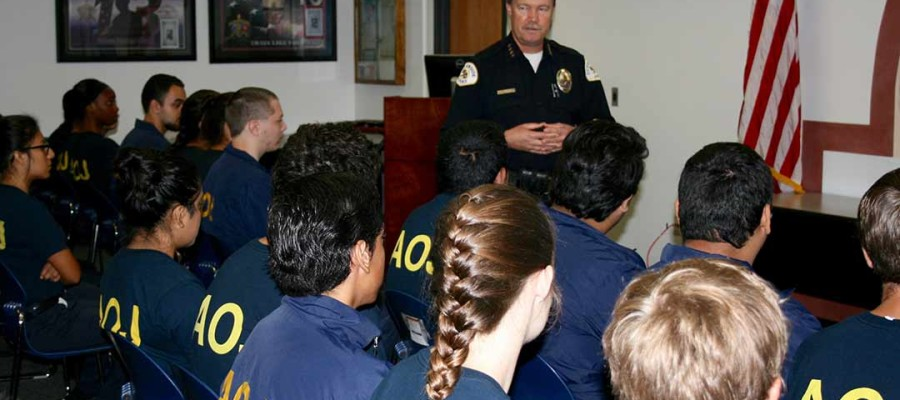 High school students learn what it takes to be a cop