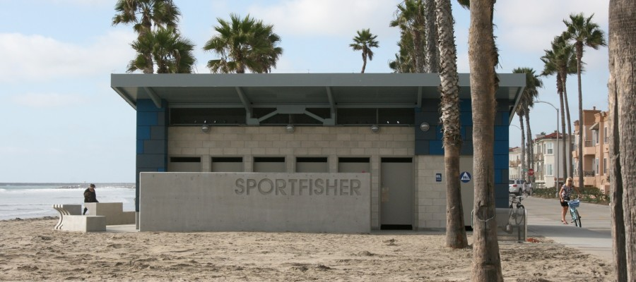 Beach restrooms opened on Wednesday