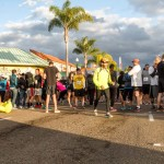 Runners take to the streets at the start of the Encinitas Turkey Trot. Photo by Bill Reilly