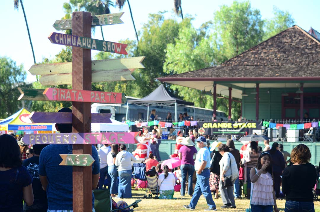Crowds turnout for the Escondido Tamale Festival at Grape Day Park on Saturday. Photo by Tony Cagala